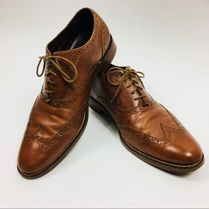 Cole Haan Brown wing tip shoes size 10 1/2 M